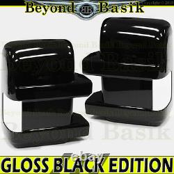 2008-2016 Ford F250-F550 GLOSS BLACK Mirror Covers for TOWING withTurn Signal Hole