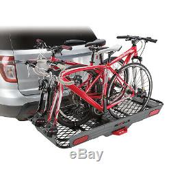 3, bike mount adapters, Converter kit for a railed hitch cargo basket Carrier
