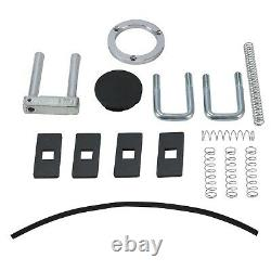 30,000 lbs Double Lock Gooseneck Trailer Hitch Kit Black For 2015-2020 Ford F150