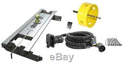 B&W 2-5/16 Gooseneck Hitch with Hole Saw & Curt Wiring Kit for Ford F-250/F-350