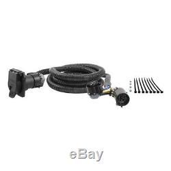 B&W 2-5/16 Gooseneck Hitch with Hole Saw & Curt Wiring Kit for Silverado/Sierra