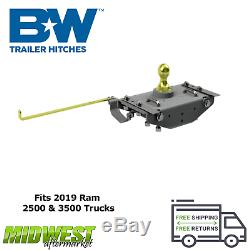 B&W Turnoverball Gooseneck Hitch Complete Kit For 2019 Dodge Ram 2500 3500