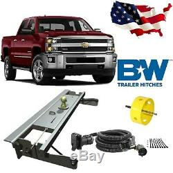 B&W Turnoverball Gooseneck Hitch withHole Saw & Wiring Kit for Chevrolet/GMC Truck