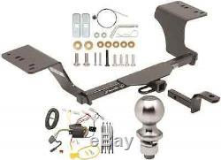 COMPLETE TRAILER HITCH PACKAGE With WIRING KIT FOR 2012-2017 TOYOTA CAMRY DRAWTITE