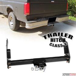 Class 3/Iii Matte Blk Trailer Hitch Receiver Tube Towing For 84-95 Toyota Pickup