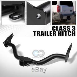 Class 3 Matte Blk Trailer Hitch Receiver Bumper Tow 2 For 05-15 Nissan Xterra