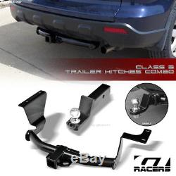 Class 3 Trailer Hitch Receiver+2 Ball Bumper Mount For 2007-2011 Honda Crv Cr-V