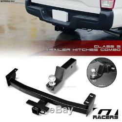 Class 3 Trailer Hitch Receiver+2 Ball Bumper Mount For 2016-2018 Toyota Tacoma