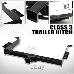Class 3 Trailer Hitch Receiver Rear Bumper Tow Kit 2 For 96-17 Express/Savana