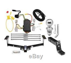 Class 3 Trailer Hitch Receiver Tow Kit with 1-7/8 Ball & Wiring for Honda Odyssey