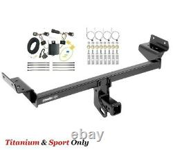 Class 3 Trailer Hitch & Tow Wiring Kit for 15-18 Ford Edge Titanium & Sport