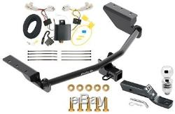 Complete Trailer Hitch Tow Pkg with Wiring Kit For 13-18 Toyota RAV4 1-7/8 Ball