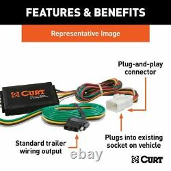 Curt Class 3 Trailer Hitch Tow Receiver Wiring Harness Kit for 2016-2021 Pilot