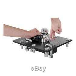 Folding Ball Gooseneck Hitch Package For 1999-2016 Ford F250, F350 Super Duty