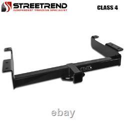 For 07-18 Silverado/Sierra 1500 Class 4 Blk Trailer Hitch Receiver Bumper Tow 2
