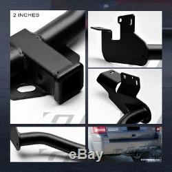 For 2005-2012 Escape Class 3 Matte Black Trailer Hitch Receiver Bumper Towing 2