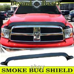 For 2009 10 11 12 13 14 15 16 17 2018 Dodge Ram 1500 SMOKE Bug Shield Deflector