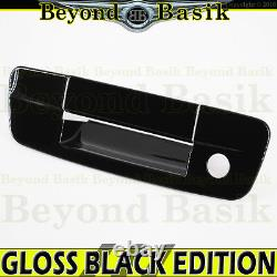 For 2009-2018 RAM 1500 GLOSS BLACK Tailgate Handle Cover withKeyhole No Cam Hole
