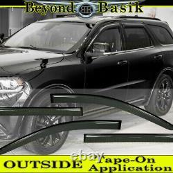 For 2011-2015 2016 2017 2018 2019 2020 2021 Dodge Durango SMOKE Door Vent Visors