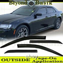 For 2011-2017 2018 2019 2020 2021 Chrysler 300 SMOKE Door Vent Visor Rain Guards