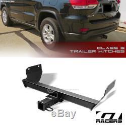 For 2011+ Grand Cherokee Class 3 Matte Blk Trailer Hitch Receiver Bumper Tow 2