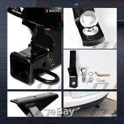 For 2014-2019 MDX/2016+ Pilot Class 3 Black Trailer Hitch Receiver+2 Ball Mount