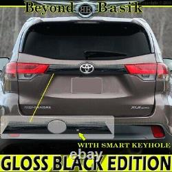 For 2014-2019 TOYOTA Highlander GLOSS BLACK Liftgate Tailgate Handle COVER WithSKH