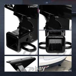 For 2014-2020 MDX/2016+ Pilot Class 3 Black Trailer Hitch Receiver Bumper Tow 2