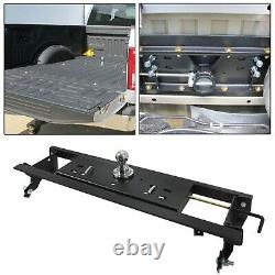 For 2015-2020 Ford F150 30,000 LBS Double Lock Gooseneck Trailer Hitch Kit Black