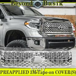 For 2018 2019 2020 2021 Toyota Tundra CHROME Grille COVER for Honeycomb Grill
