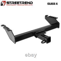 For 73-97 F150/F250/F350/Bronco Class 4 Blk Trailer Hitch Receiver Bumper Tow 2