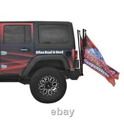 For Jeep Gladiator 20 Steinjager Black Hitch Mounted Dual Flag Holder Kit