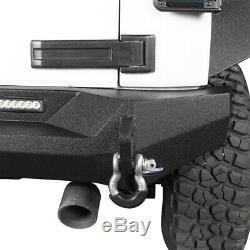 Rear Bumper with Trailer Hitch Kit Body Armor for 2007-2018 Jeep Wrangler JK JKU