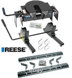 Reese 16K 5th Fifth Wheel Hitch & Rail Kit Slider For 75-16 Ford F250 F350 F450