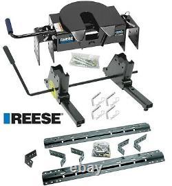 Reese 16K 5th Wheel Hitch + Rail Kit + Slider For 03-12 Ram witho Overload Springs