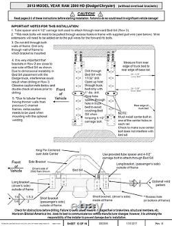 Reese Base Rail Kit 25K Gooseneck Hitch For 03-12 Dodge Ram witho Overload Springs