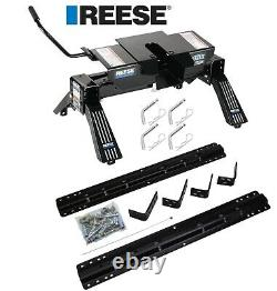 Reese Rail Kit with 16K 5th Fifth Wheel Hitch For 99-19 GMC Sierra 1500 2500 3500