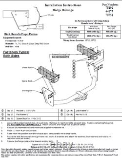 Reese Trailer Tow Hitch For 04-06 Dodge Durango with Wiring Harness Kit