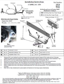 Reese Trailer Tow Hitch For 13-20 Cadillac ATS Exc ATS-V with Wiring Harness Kit