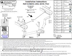 Reese Trailer Tow Hitch For 16-20 Honda HR-V with Wiring Harness Kit