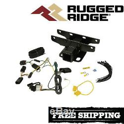 Rugged Ridge Trailer Hitch Kit With Wiring Harness For 2018-2019 Jeep Wrangler JL