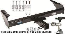 TRAILER HITCH With WIRING KIT FOR 1985-1986 CHEVY C/K 10 20 30 CLASS III BRAND NEW