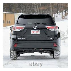 Trailer Hitch & Tow Wiring Kit + Receiver Cover for 2014-2019 Toyota Highlander