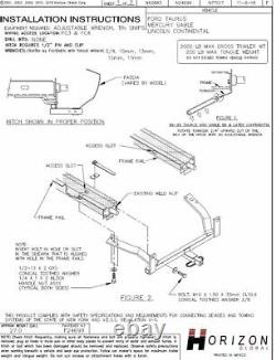 Trailer Tow Hitch For 00-03 Ford Taurus Mercury Sable with Wiring Kit