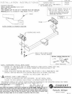 Trailer Tow Hitch For 01-05 Toyota RAV4 All Styles with Wiring Harness Kit