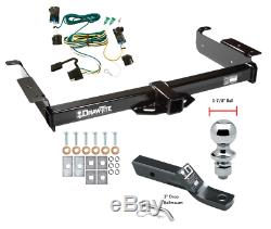 Trailer Tow Hitch For 03-20 Chevy Express GMC Savana with Wiring Kit & 1-7/8 Ball