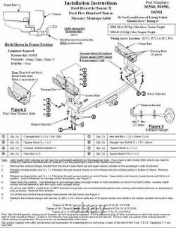 Trailer Tow Hitch For 05-07 Ford 500 Freestyle 08-09 Taurus Sable withDraw Bar Kit