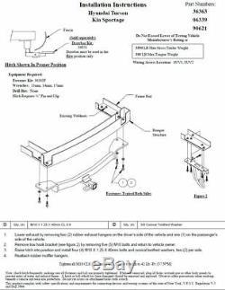 Trailer Tow Hitch For 05-10 Hyundai Tucson KIA Sportage Receiver with Draw Bar Kit