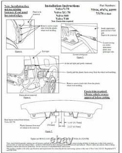 Trailer Tow Hitch For 08-16 Volvo XC70 Complete Package with Wiring Kit & 2 Ball