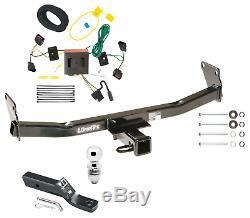 Trailer Tow Hitch For 08-17 Jeep Patriot Complete Package withWiring Kit & 2 Ball